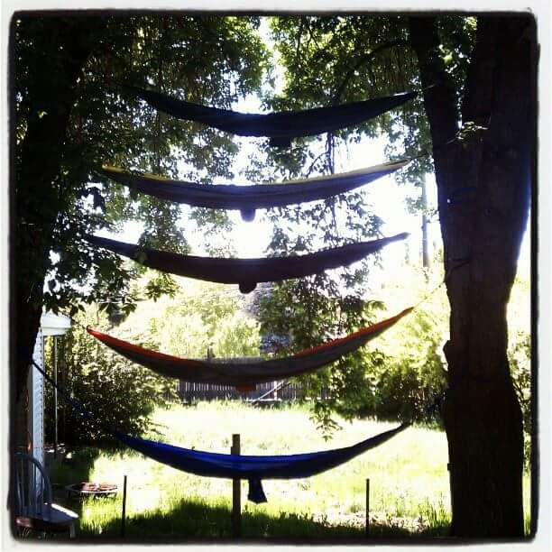 How to climb a hammock ladder