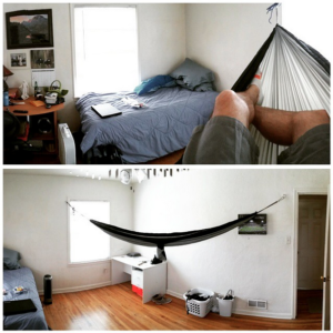 how to put a hammock in your room