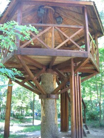 Treehouse tree house camping