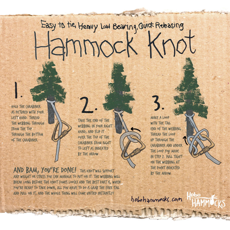 how to hang   hammock knot the only hammock knot you u0027ll ever need  how to hang a hammock      rh   hobohammocks
